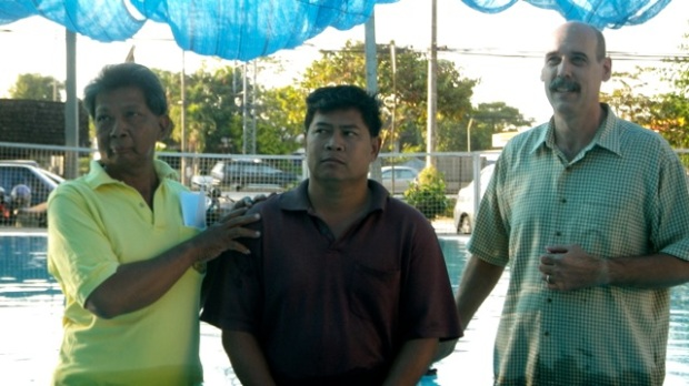 A man from another small group also wanted to be baptized that day